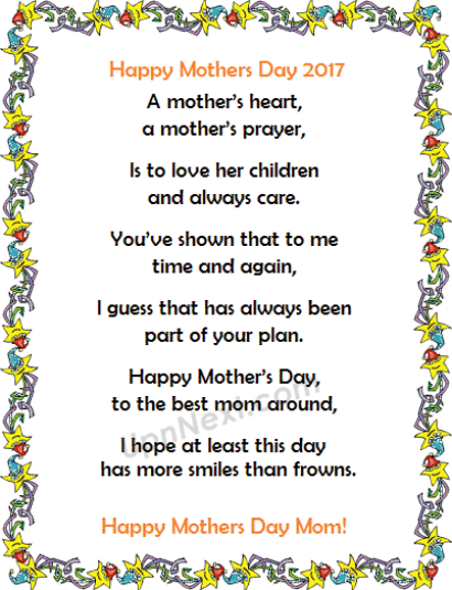 Happy Mothers Day Poem Pictures
