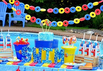 safari pool birthday party