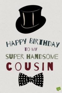 Happy Birthday Cousin Messages Male