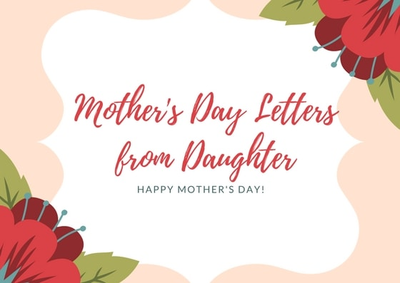 Mothers Day Letters from Daughter - Grown