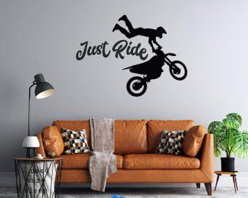 Motocross - Just Ride  - Vinyl Wall Decal - Free Customization - MX - Motorcycle