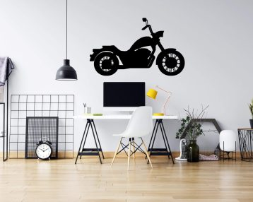 Motorcycle  - Vinyl Wall Decal - Strong Michigan Roots - Free Customization