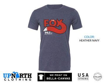 UpNorth Tee - The Fox 99.5 Detroit - Detroit Vintage Radio - Detroit Michigan Shirt - Michigan Radio