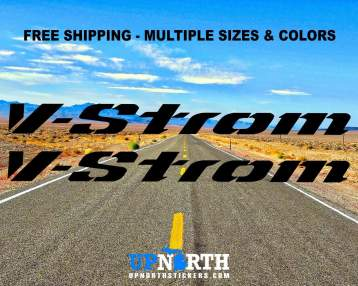 V-STROM - 2 DECAL SET - Multiple Colors and Sizes - Free Shipping - Suzuki Vstrom