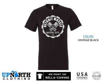 UpNorth Tee - Detroit Muscle Gear  - Motor City Shirt -  Detroit Michigan Shirt - Free Shipping