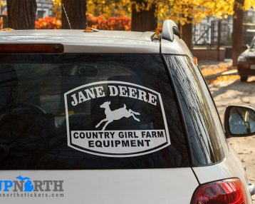 Jane Deere - Country Girl Farm Equipment - Vinyl Vehicle or Wall Decal  - Free Shipping