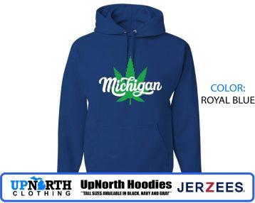 UpNorth Hoodies - Michigan Marijuana - Hooded Pullover Sweatshirt - Hooded Sweatshirt - Tall Sizes Available