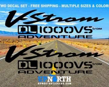 Vinyl Decal Set - Suzuki Vstrom DL1000 or DL650 Adventure Motorcycle - 2 DECALS - Free Shipping
