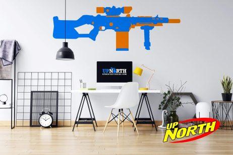 Sniper - Foam Dart Gun - Custom Vinyl Wall Decal - Free Shipping