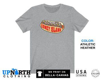 UpNorth Tee - Coney Island Hot Dog Shirt - Coney Island T-shirt -  Free Shipping
