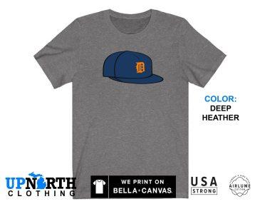 UpNorth Tee - Detroit Tigers Baseball Hat - Detroit Michigan T-Shirt - Free Shipping