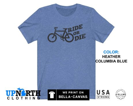 UpNorth Tee - Bicycle - Ride or Die (Vintage Black Print) T-Shirt - Free Shipping