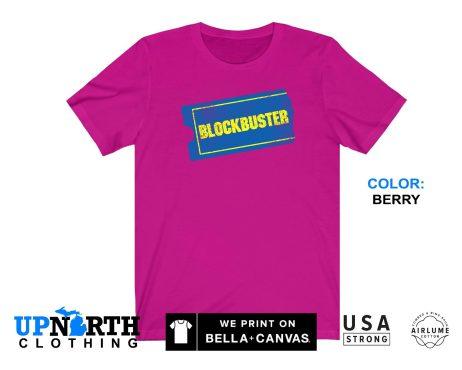 UpNorth Tee - Blockbuster Video (Vintage Print) T-Shirt - Nostalgic Shirt - Free Shipping