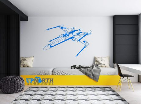 X Wing Fighter - Custom Wall or Vehicle Vinyl Decal - Free Shipping