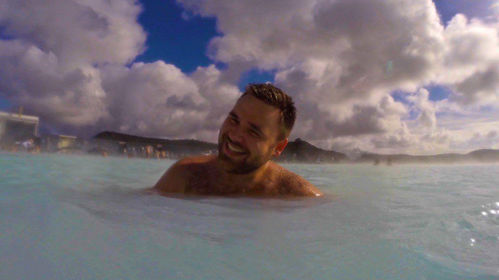 Man enjoying The Blue Lagoon