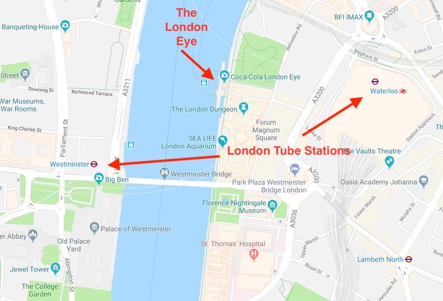 London Eye map