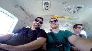 Three guys in Cessna