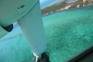 Ocean and beach view from Cessna