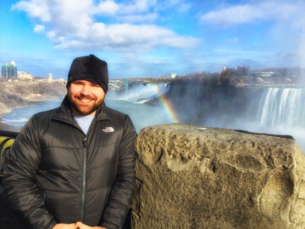 Brad at Niagara Falls
