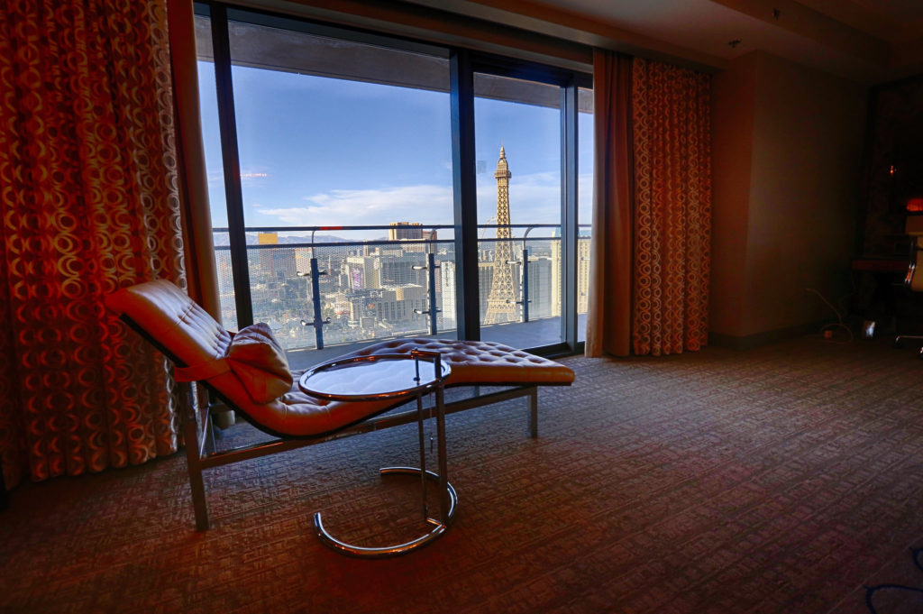 A picture of the cosmopolitan hotel suite in Las Vegas.