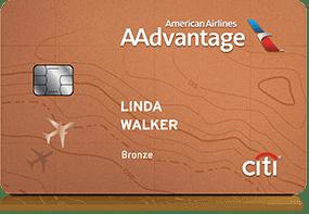 AA credit cards bronze Citi