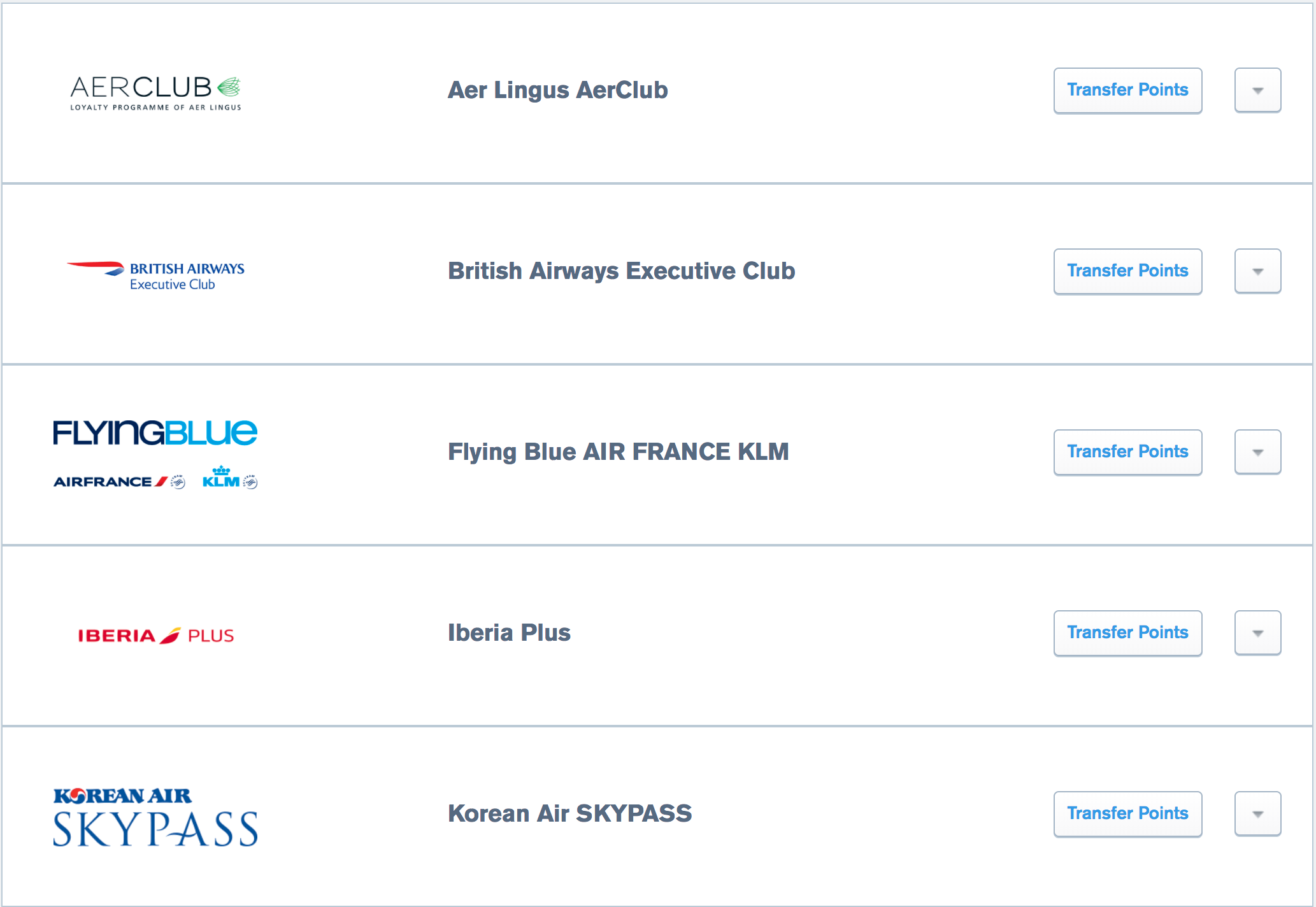 Sapphire airline partners