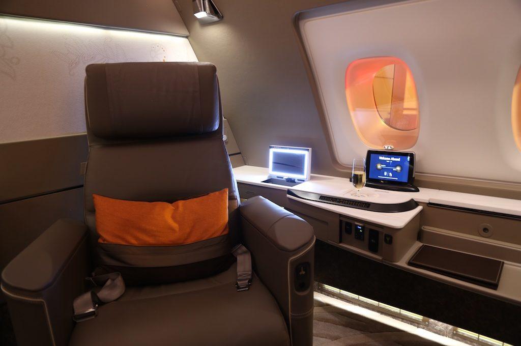 Singapore Suite 1st class seat