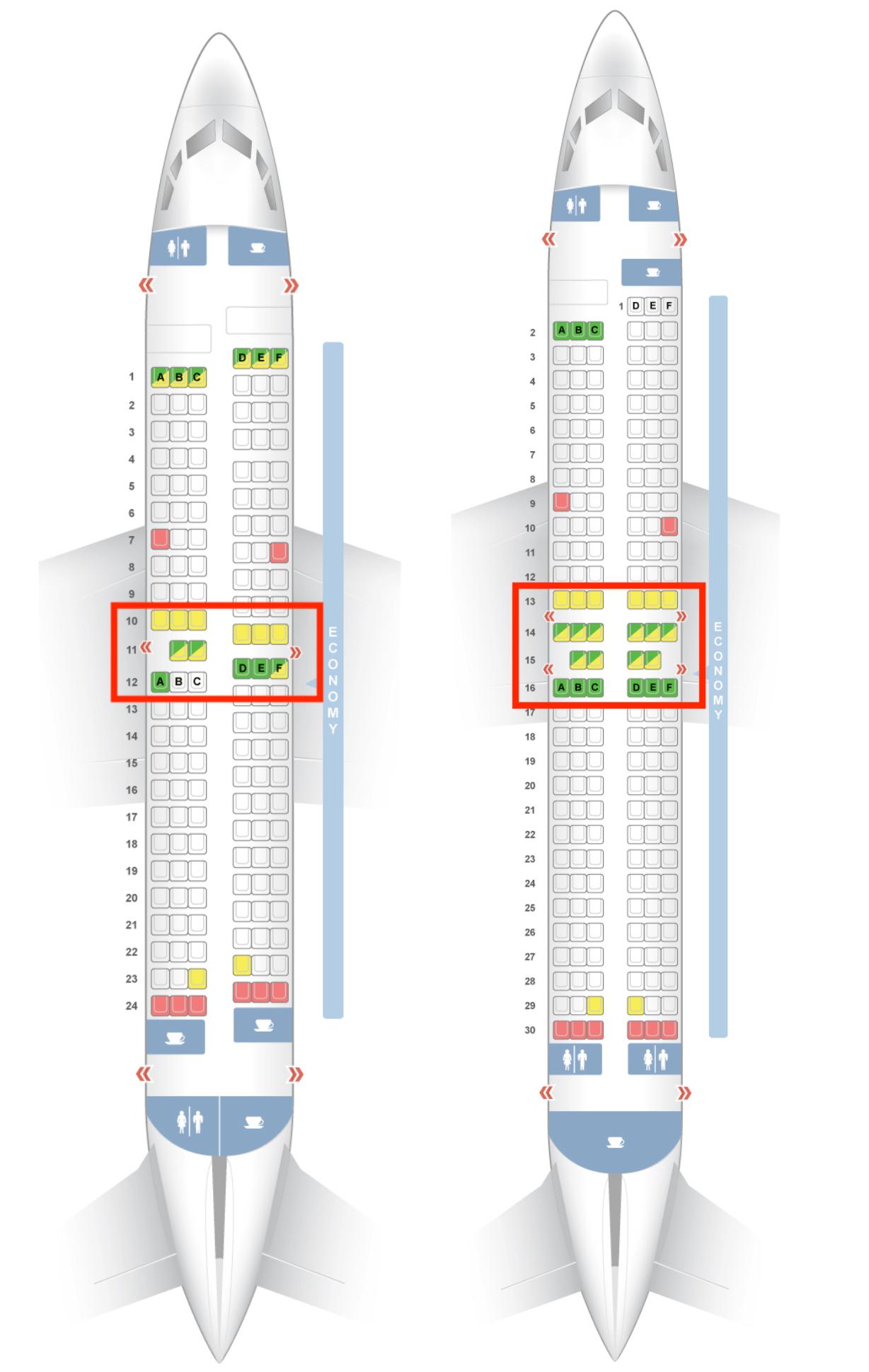 Southwest seat maps 737 700 737 800