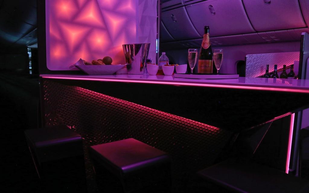 Virgin Atlantic 787 bar.