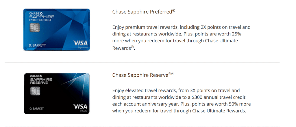 Chase Private Client credit cards