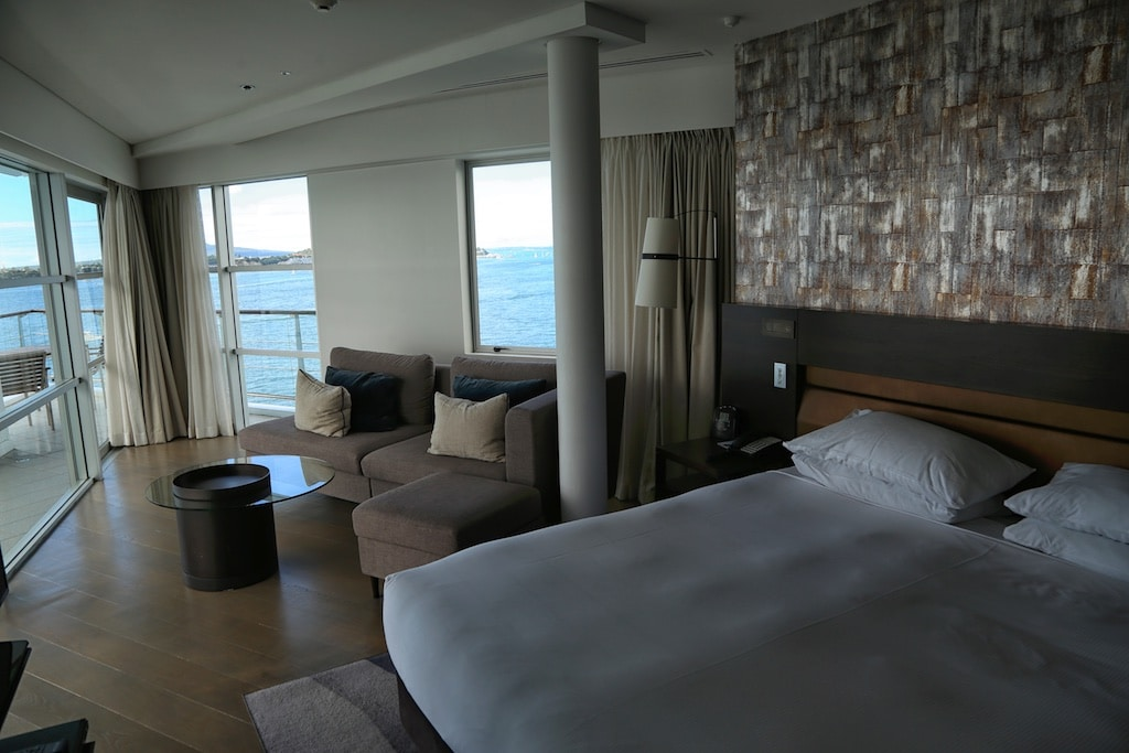 A suite at the Hilton Auckland New Zealand.