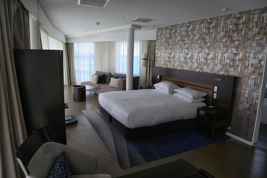 The Hilton Auckland Bow Suite.