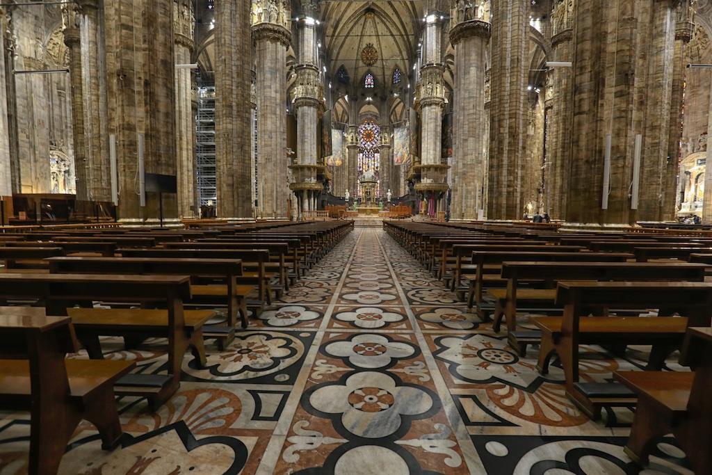 The Duomo Milan Interior.