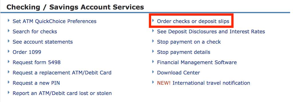 Order Chase checks online