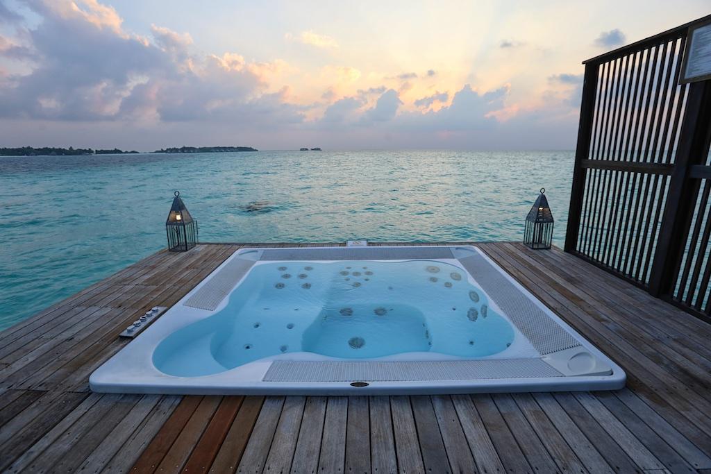 Hot tub overwater villa Maldives