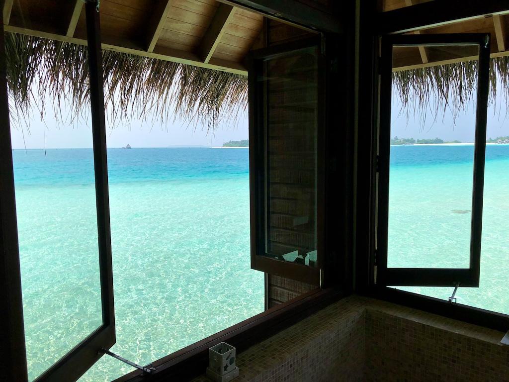 Conrad Maldives Retreat Water Villa bath tub.