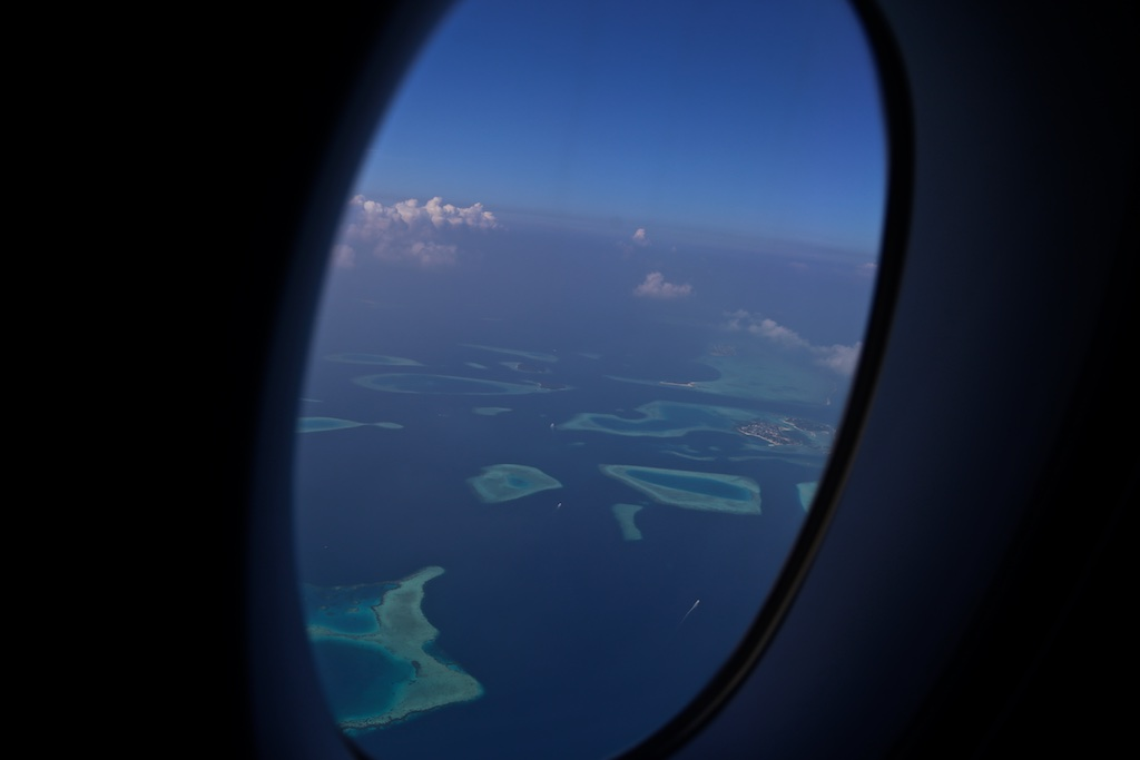 Maldives from plane