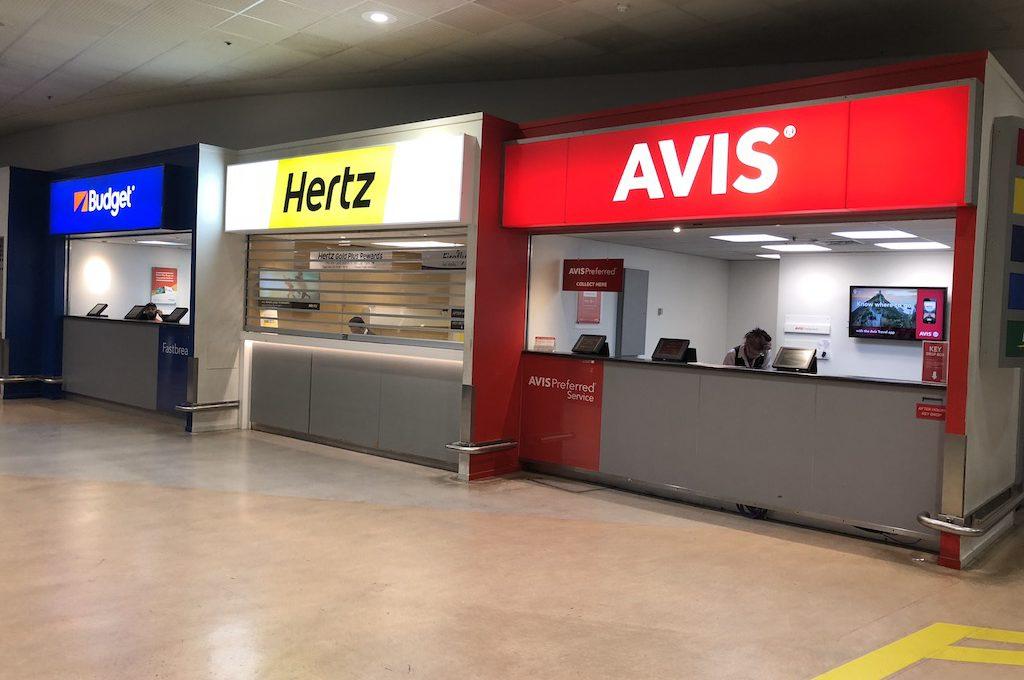 Check in desk for Avis Preferred.