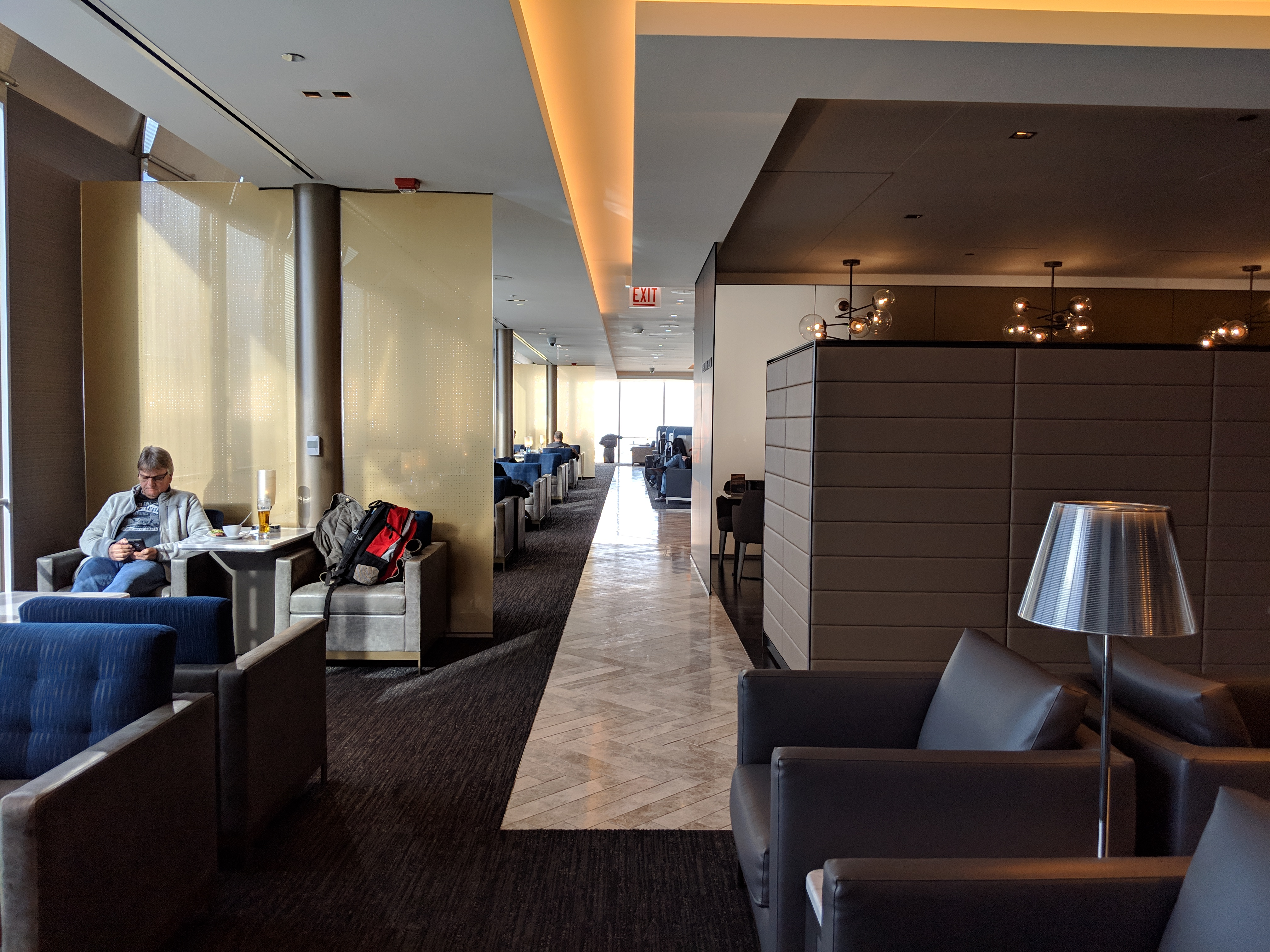 ORD United Polaris lounge.
