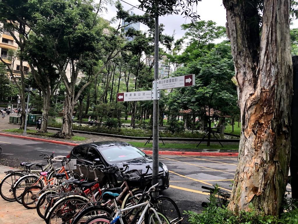 Bikes at park Taipei