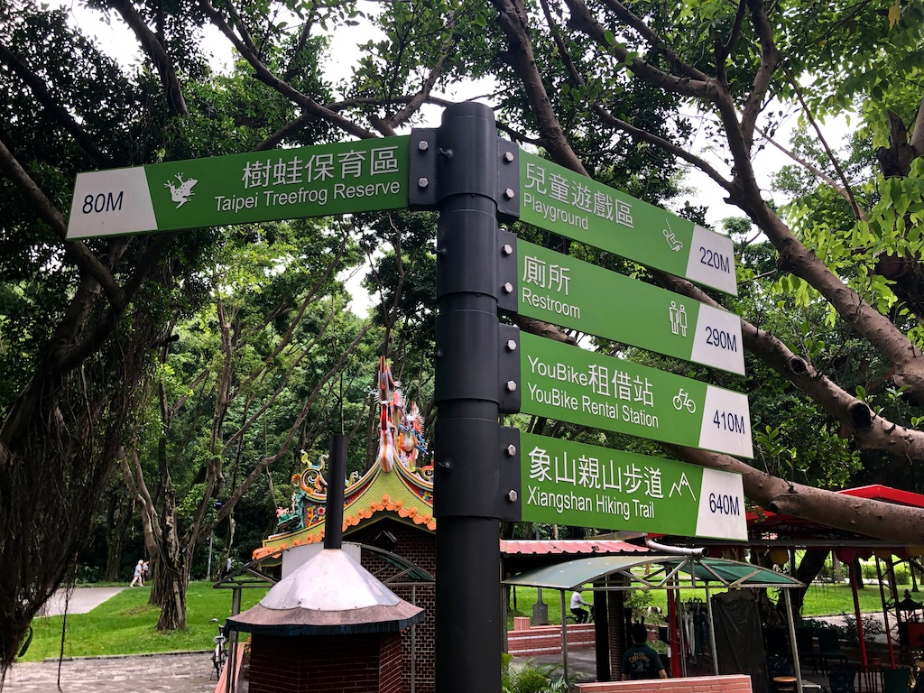 Signs in park