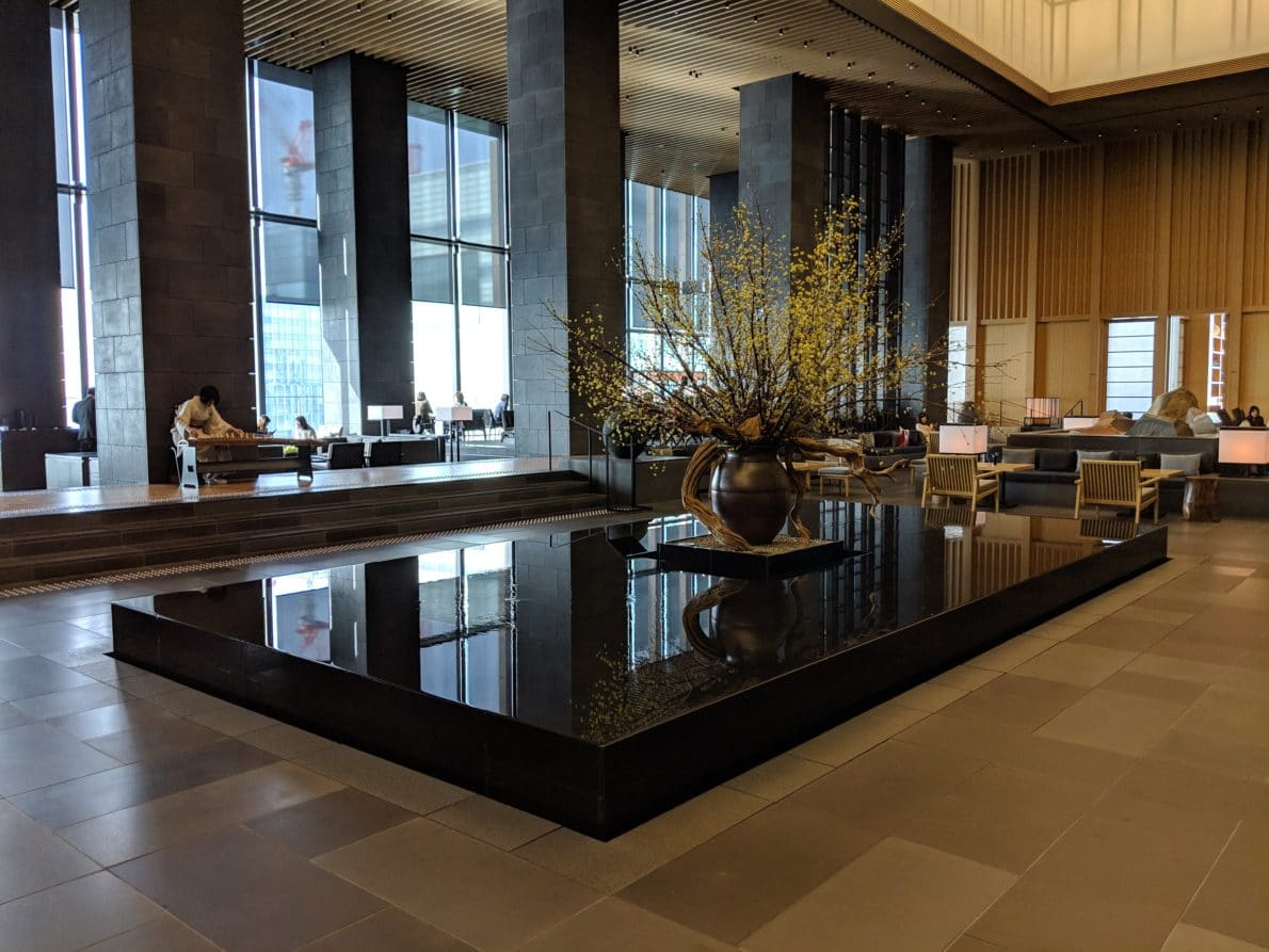 Aman Tokyo sky lobby and lounge