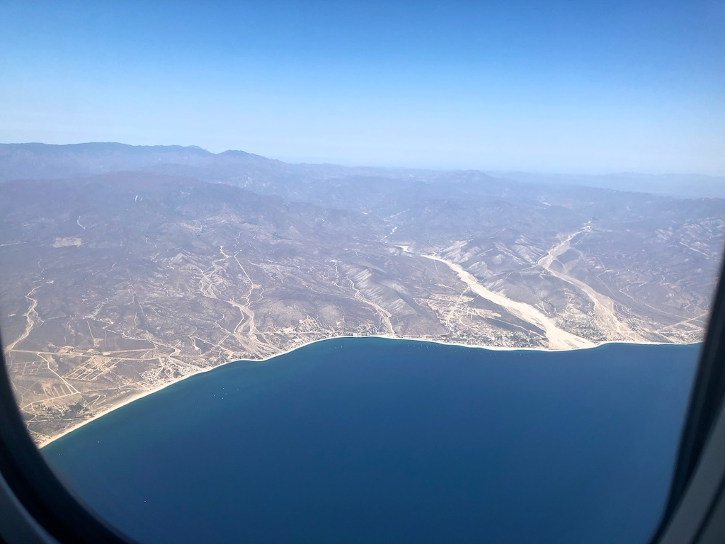 Ocean view from plane