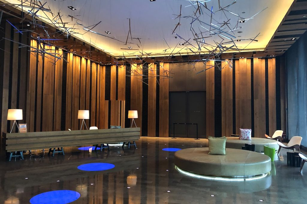 Lobby at the W Taipei.