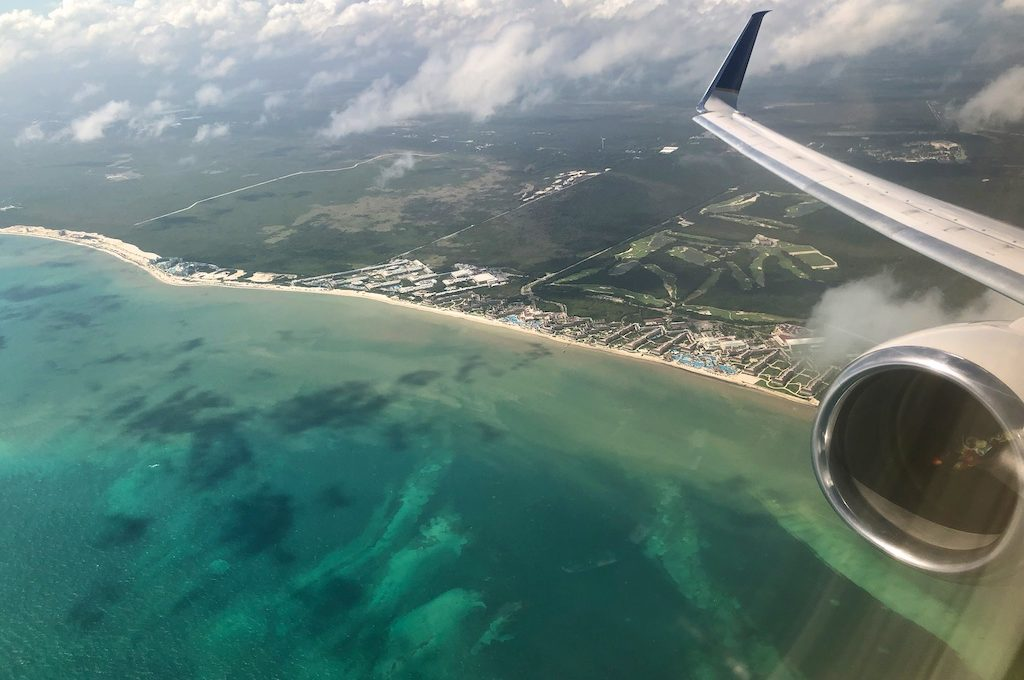 Beach view from plane