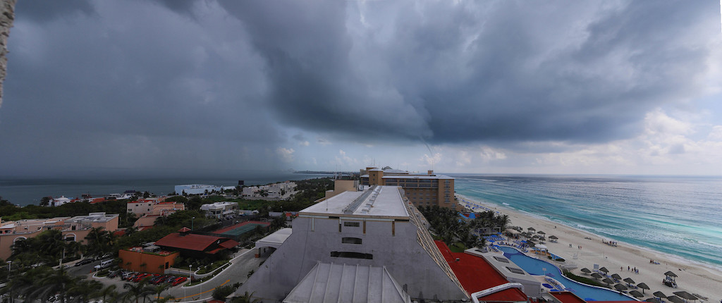 Storm over Cancun