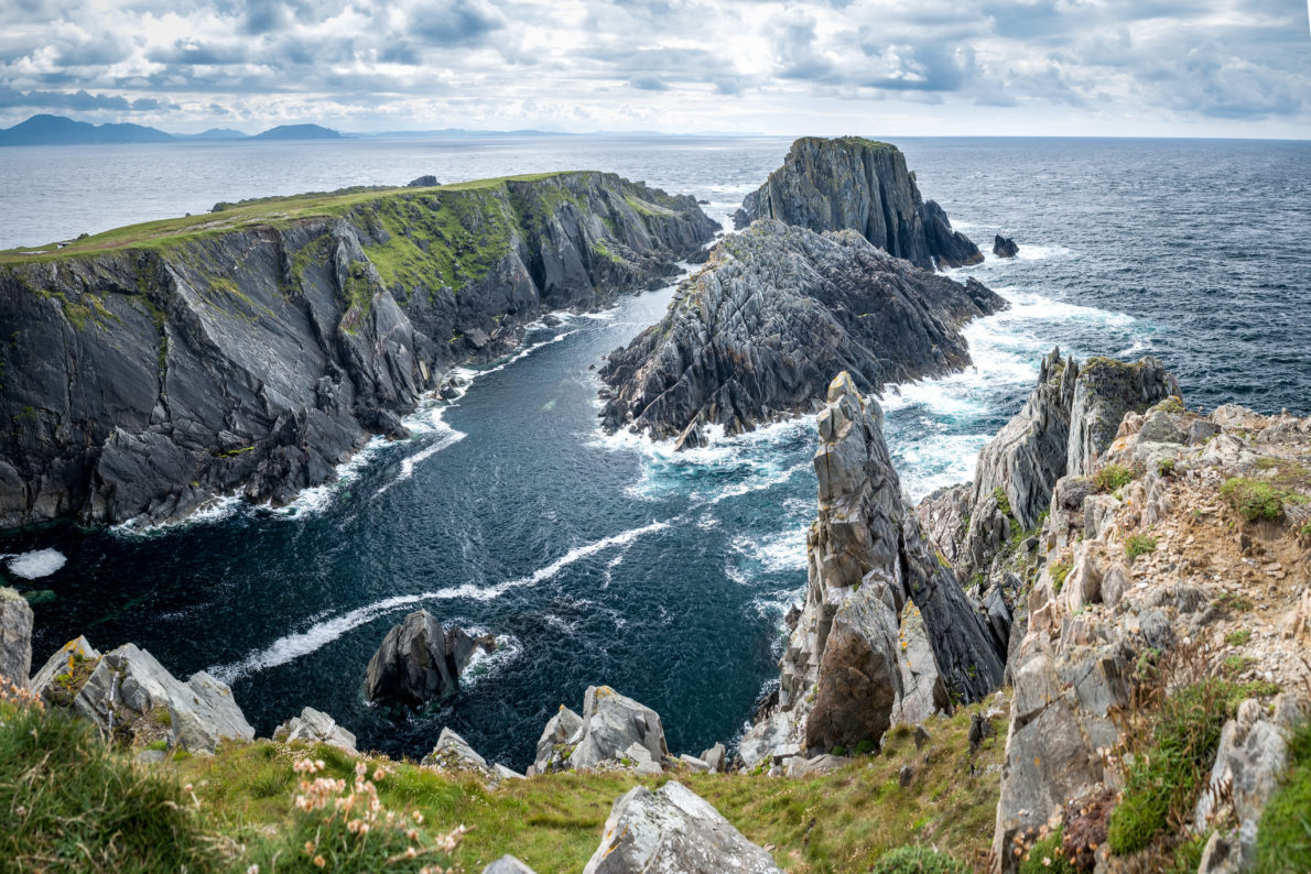 Cliffs by ocean