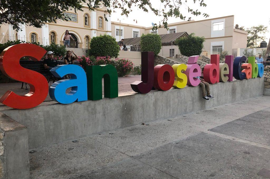 Colorful San Jose del Cabo sign