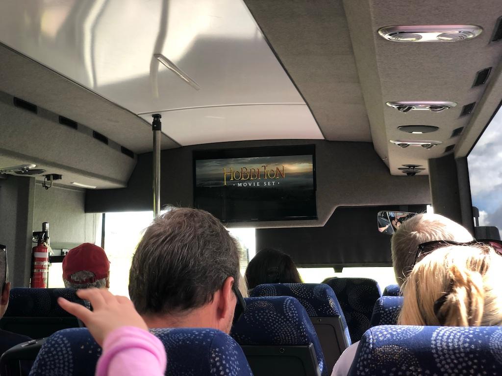 Bus at Hobbiton Movie Set Tour