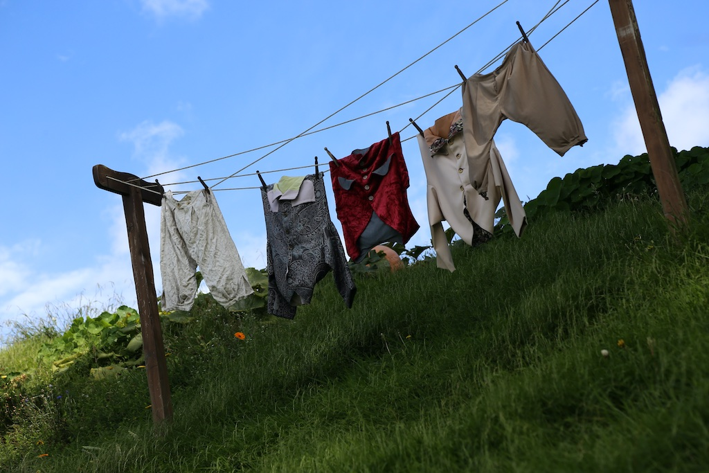 Clothes on line at Hobbiton Movie Set Tour